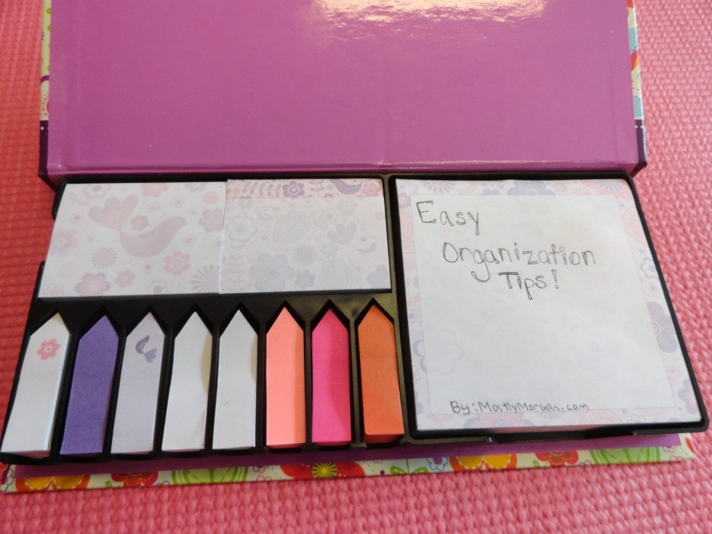 Easy organization tips for college students and everybody else.