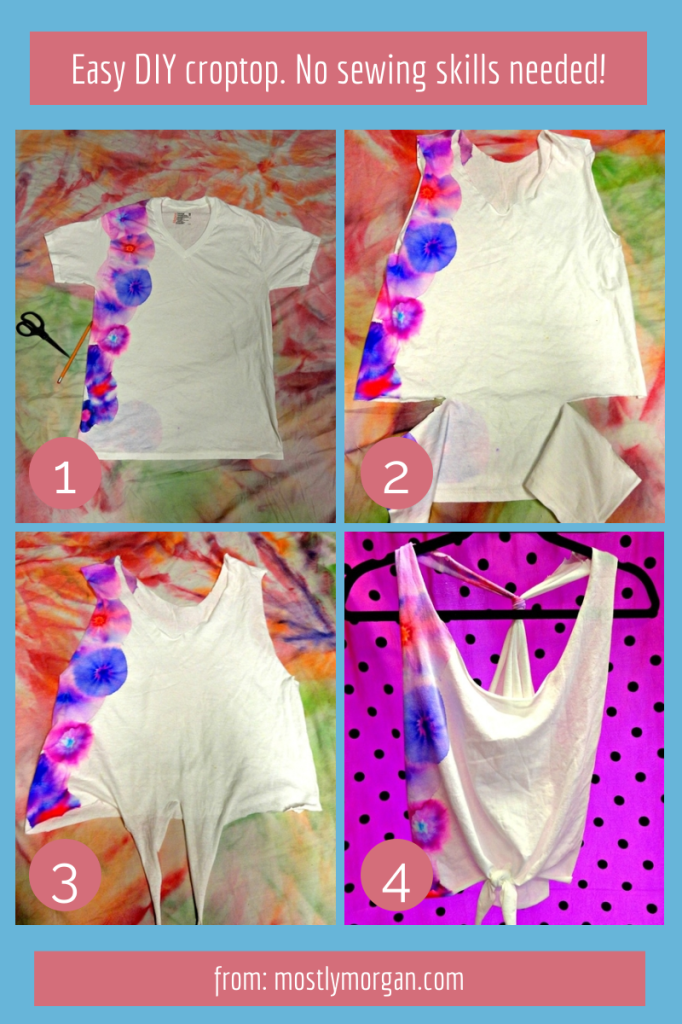 Super easy method to make a DIY croptop. Check out the website for step by step instructions!