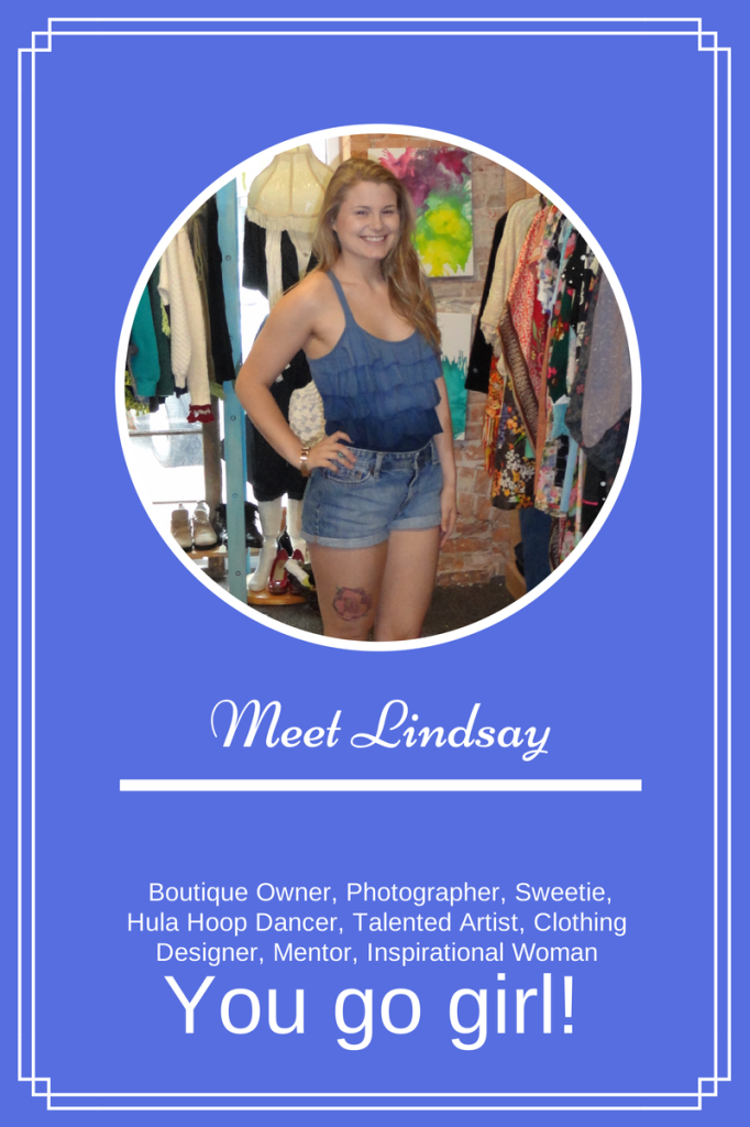 """Meet Lindsay of Good Karma Shirt Co. She is the first woman featured in a new series called, """"You Go Girl!"""" Read about how she successfully opened her shop at only 18!"""