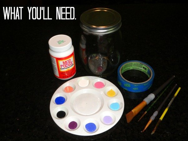 What you'll need to create a super cute, DIY change jar!