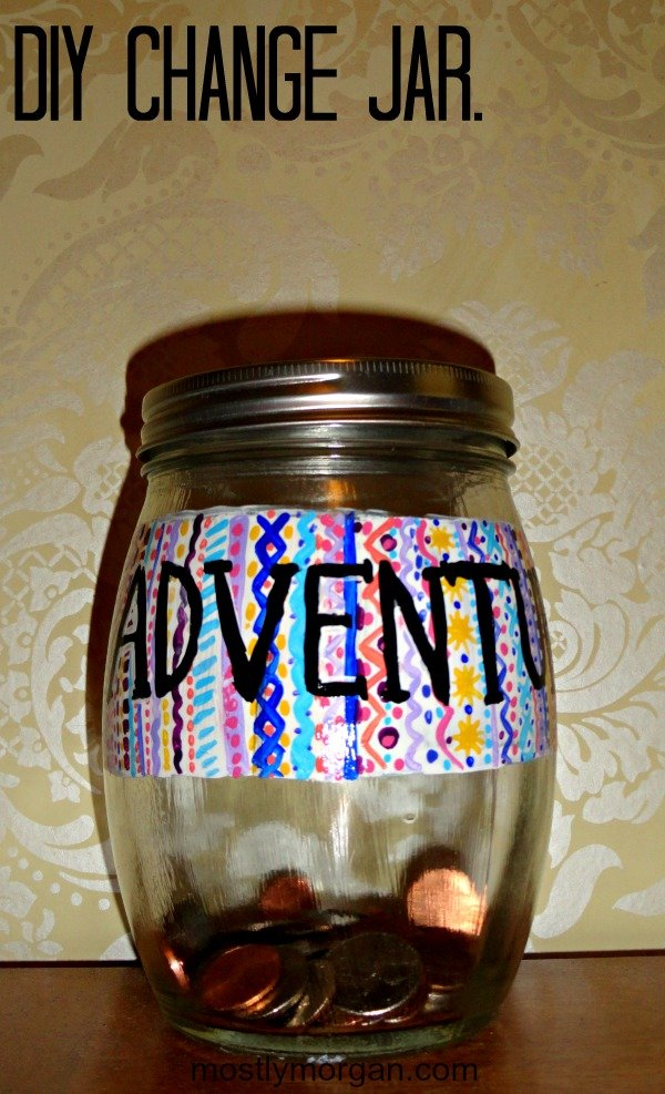 Check out mostlymorgan.com to find out how to make this super cute DIY change jar!