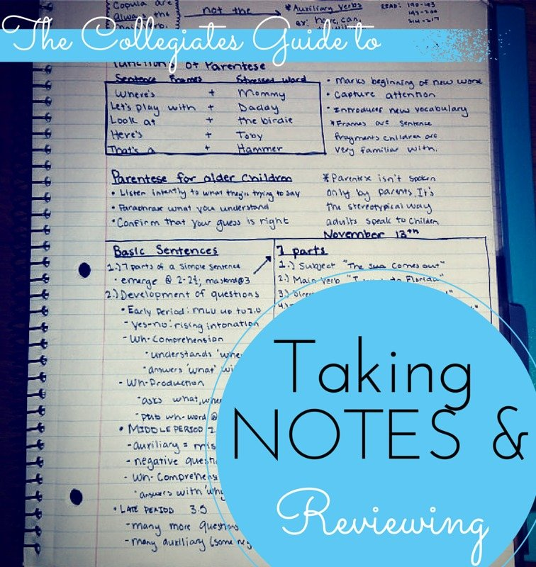 The Collegiates Guide To Taking Notes.