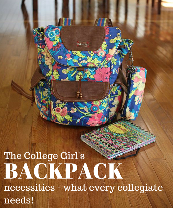 Wondering what you need in your college backpack? See what's in my backpack + tips and tricks for back to school!